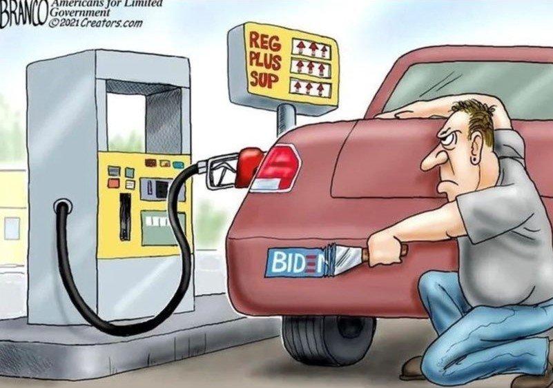 Political Cartoon gasoline