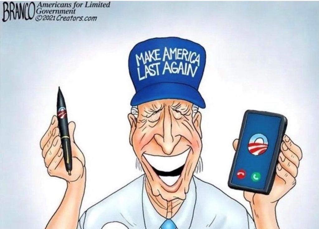 Political Cartoon Biden